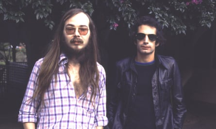 West Coast cool … Walter Becker and Donald Fagen of Steely Dan in 1977.