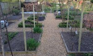 The finished veg garden
