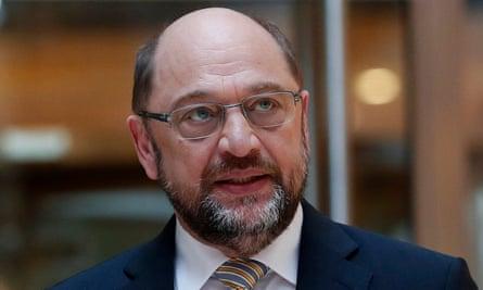 Martin Schulz after an SPD board meeting in Berlin