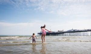 Brighton beach and pier.