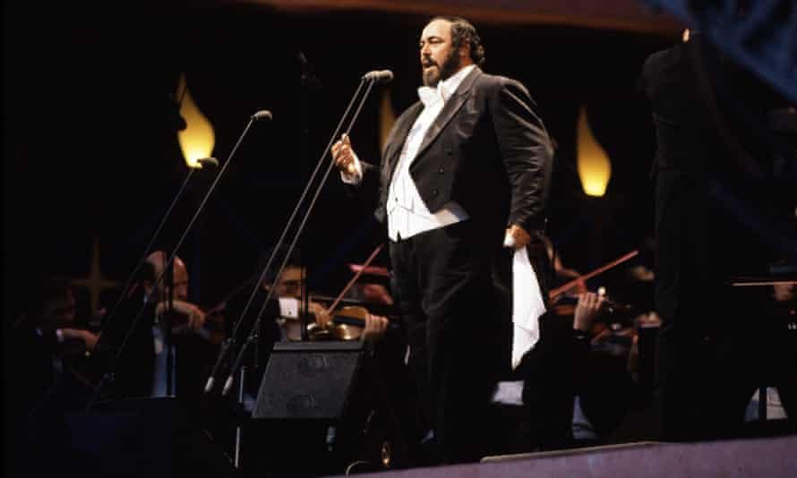 Pavarotti in Hyde Park.