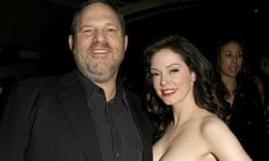 Weinstein with McGowan in 2007.