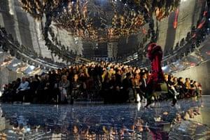 Gucci runway show in Milan.