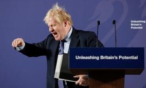 Boris Johnson in Greenwich on 3 February.
