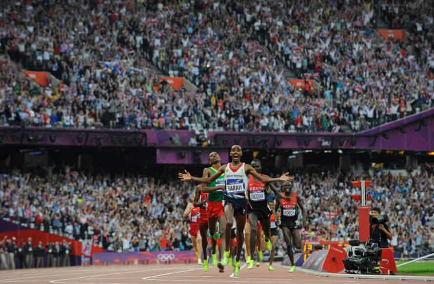Mo Farah wins 5,000m gold at London in 2012