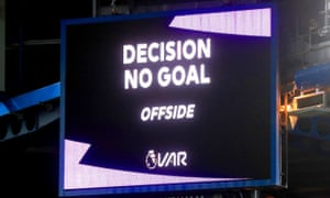 Chelsea's Olivier Giroud was a victim of a marginal offside call by VAR against Manchester United on Monday.