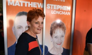 One Nation leader Pauline Hanson is on holiday in Ireland in the closing week of a campaign for the seat of Longman, which is on a knife edge.