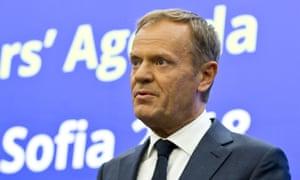 capricious donald tusk condemns trump administration world news