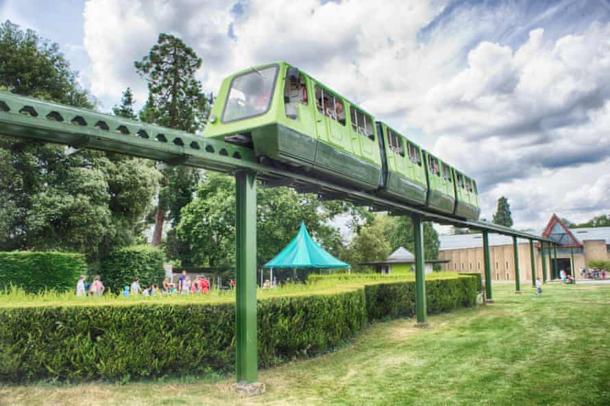 The monorail at the museum. National Motor Museum Beaulieu. Stock Image shoot May 27th 2014.