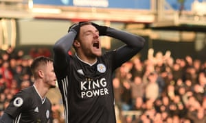 Jamie Vardy reacts after his penalty is saved by Nick Pope.