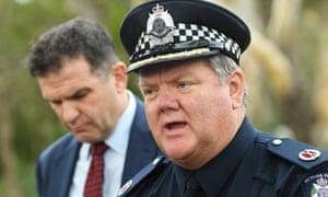 Victoria police assistant commissioner Luke Cornelius, right, addresses the death of Courtney Herron in Melbourne