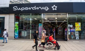 A Superdrug store in Uxbridge.
