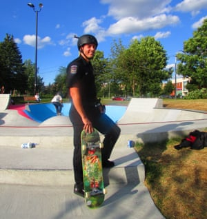 Thierry Hinse-Fillion is Canada's first skateboarding policeman.