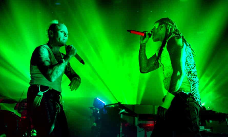 The Prodigy performing in Manchester in 2017.