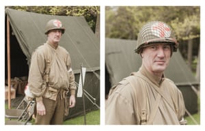 Simon Vaughan as a second world war US army field medic