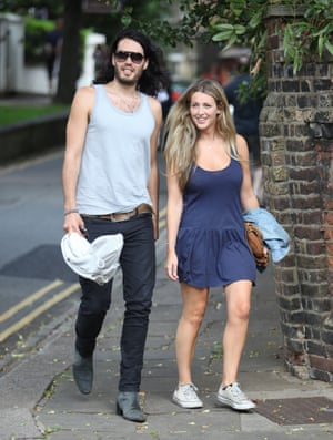Russell Brand with wife, Laura Gallacher