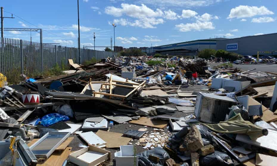 Large-scale fly-tipping