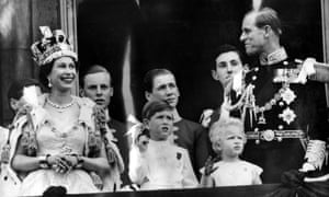 Prince Philip and the Queen at her coronation
