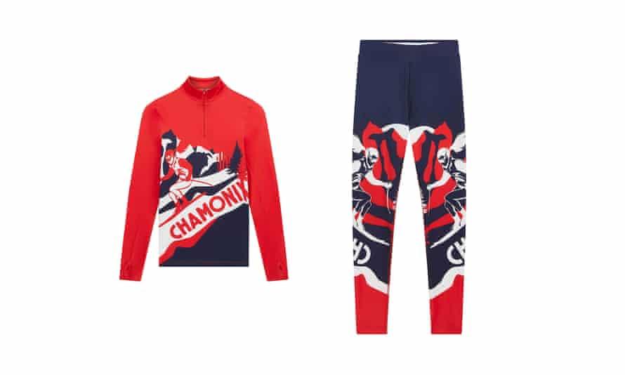 ASOS 4505 SKI chamonix knitted base layer top and leggings