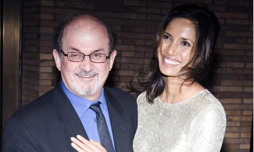 Salman Rushdie with his ex-wife Padma Lakshmi