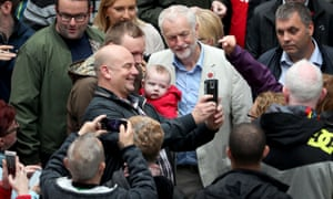 Jeremy Corbyn campaigning in Coatbridge.