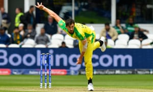 34f47438 Cricket World Cup Mitchell Starc thunders in to save Australia's misfiring  batsmen again