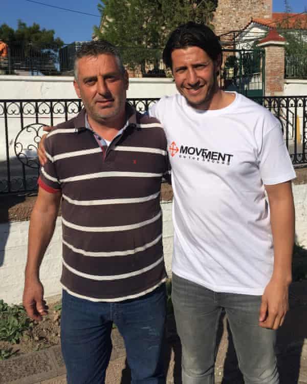 Nikos Trakellis and Adil Izemrane in Moria.