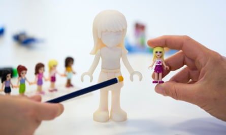 Designing the Lego Friends dolls.