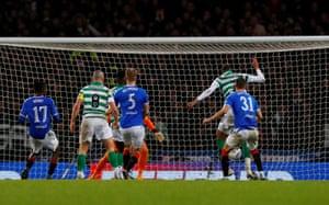 Jullien scores the opener for Celtic.