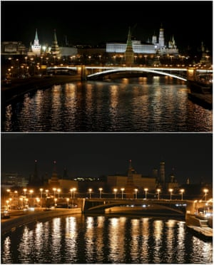 The Bolshoi Kamenny Bridge with the Kremlin in the background, Moscow