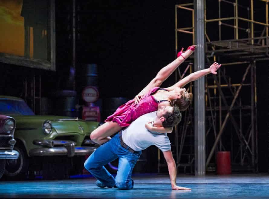 Zizi Strallen (Lana) and Chris Trenfield (Luca) in Car Man, by Bourne, at Sadler's Wells.
