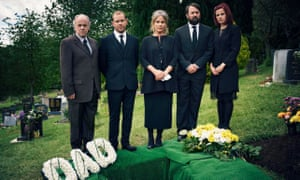Geoff McGivern, Robert Webb, Penny Downie, David Mitchell and Louise Brealey in Back