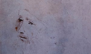 A drawing which has been recently confirmed as a portrait of Leonardo Da Vinci.