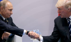 Trump and Putin at the G20 summit in Hamburg.
