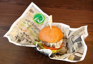 Marky meh: the blue cheese burger. Wahlburgers Restaurant, Covent Garden, London