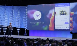 Mark Zuckerberg talks about chatbots and Messenger at F8.