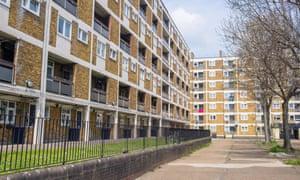 Council houses apartment blocks estate