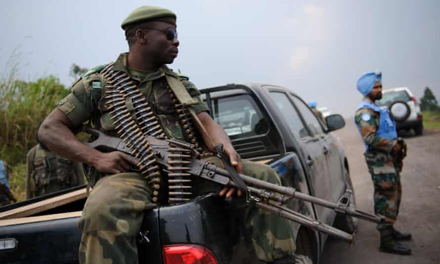 A soldier from the Armed Forces of the Democratic Republic of the Congo
