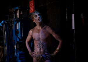 Polunin waits in the wings moments after his character Narcissus has met his end.