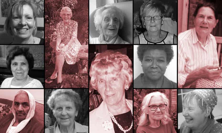 Some of the victims, first column, top to bottom: Judith Nibbs, Palmira Silva, Riasat Bi; second column, top to bottom: Rosina Coleman, Norma Bell; third column, top to bottom: Ruby Wilson, Nellie Geraghty; fourth column, top to bottom: Ruth Williams, Eulin Hastings, Lea Adri-Soejoko; fifth column, top to bottom: Paula Castle, Iris Owens