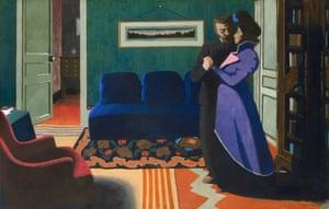 Visionary … La Visite (1899) by Félix Vallotton.