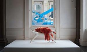 Cosima von Bonin's lounging lobster at GoMA.