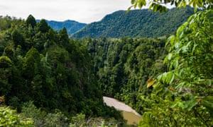 A remote river in Sumatra.