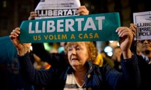 Catalan protester.