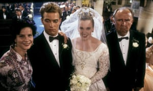 Toni Collette in Muriel's Wedding, with Rachel Griffiths, Daniel Lapaine and Bill Hunter.