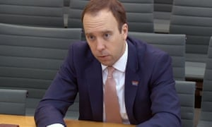 Matt Hancock was involved in some testy exchanges with his predecessor Jeremy Hunt.