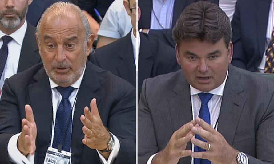 Sir Philip Green, left, and Dominic Chappell.