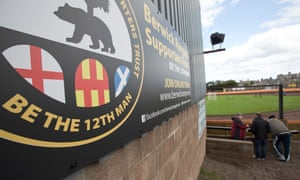 The view from Berwick Rangers' ground Shielfield Park, which lies a few miles inside England.
