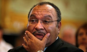 Papua New Guinea's Prime Minister Peter O'Neill