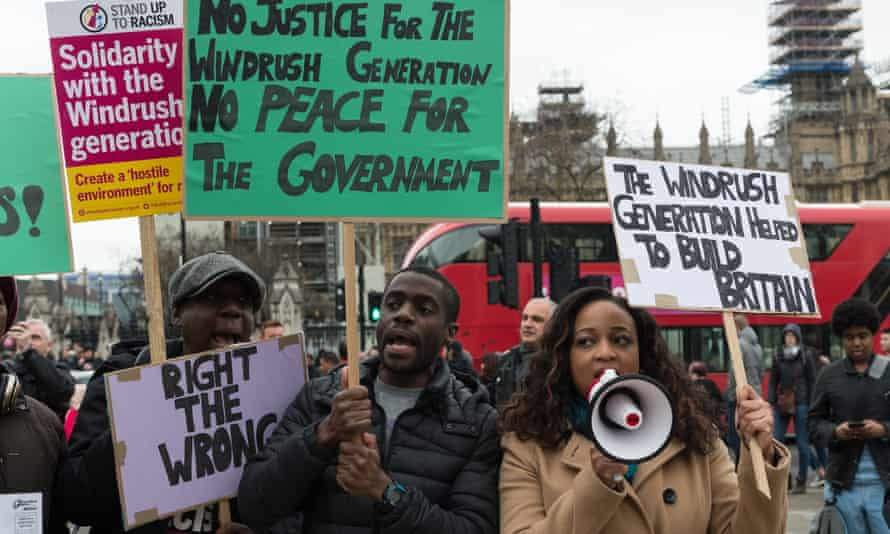 A protest in London in support of the Windrush generation